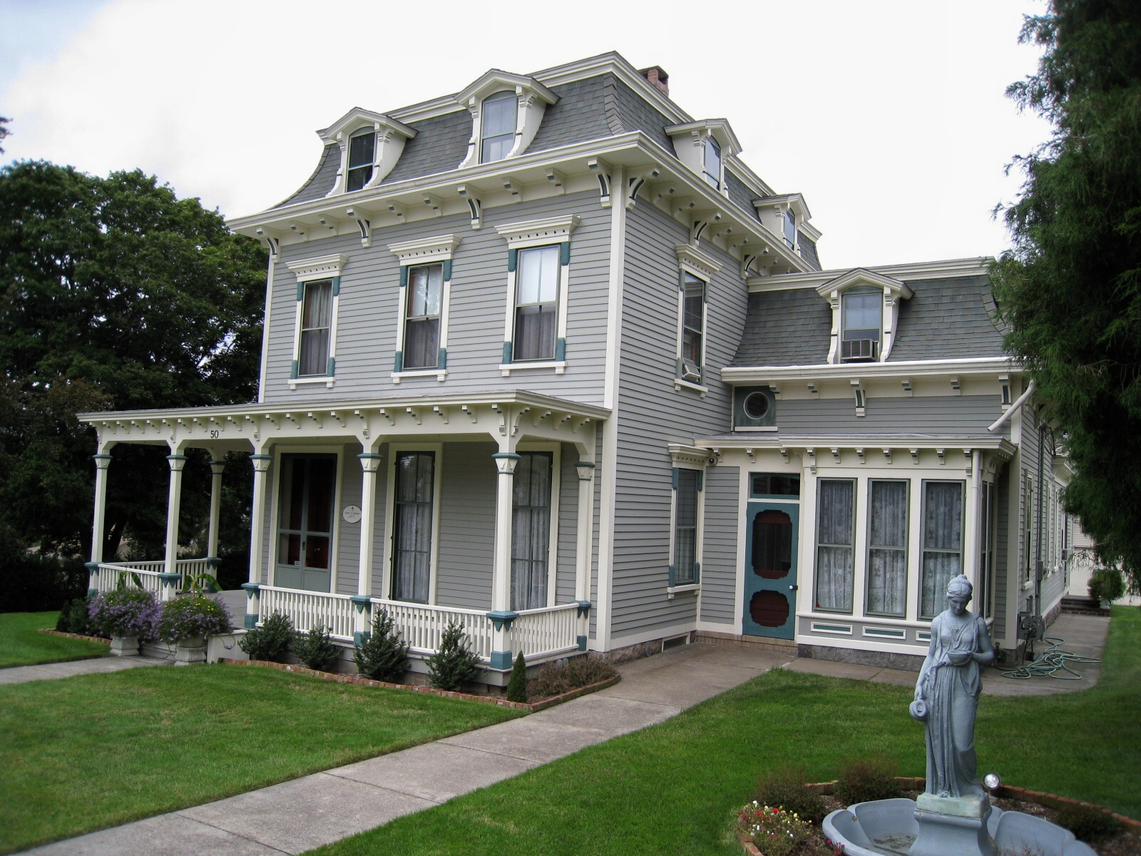 French mansard for House architecture styles
